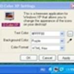 Változtassa meg az Asztali ikonok feliratának színeit XP-n
