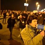 Végigvonultak Budapesten a tüntető egyetemisták