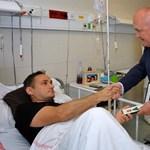 Kiengedték a kórházból, de műanyag mellényt kell viselnie a katapultáló Gripen-pilótának