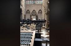 Szívszorító felvétel: így néz ki most belülről a Notre-Dame (videó)