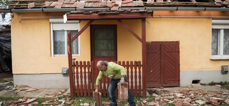 Fotók: nagy pusztítást végzett a vihar Vaján