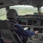 Ezt látták a pilótafülkéből, amikor felszállt az oroszok új utasszállító repülője – videó