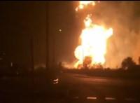 Széthasadt egy gázvezeték Püspökladánynál, hatalmas tűz tombolt