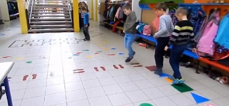 Zseniális folyosói játékot készítettek a diákoknak a bólyi iskola pedagógusai