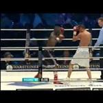 Videó: a veretlen magyar profi bokszoló kiverte ellenfele fogvédőjét