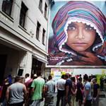 Fotók: gyermekek festettek a Menekültek Világnapján