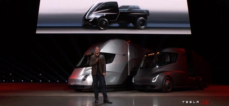 Nincs megállás: jön a platós Tesla, itt vannak róla az első hivatalos fotók