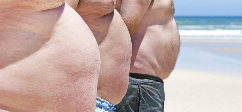 A túlsúlyosok többsége elégedett a testével. A férfiakról van szó