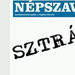 Diáksztrájk: félig üres címlappal jelent meg a Népszava