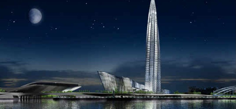 Európa legmagasabb épülete lesz a Gazprom Tower - bukik miatta a világörökség