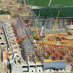 Légifotó: így fest a Felcsúton épülő stadion madártávlatból
