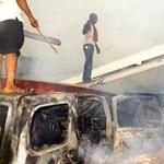 Fotók a lagosi repülőszerencsétlenség helyszínéről