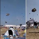 A Szigeten bezzeg nincs ilyen: minitornádó forgatta meg a sátrakat egy német fesztiválon