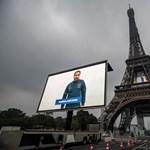 Ápolók, orvosok, bolti eladók portréival díszítették vasárnap az Eiffel-tornyot