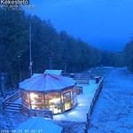 Videó: Havazott a Kékesen