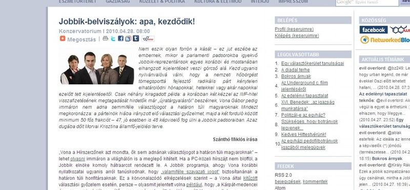 Belviszályok a Jobbikban?