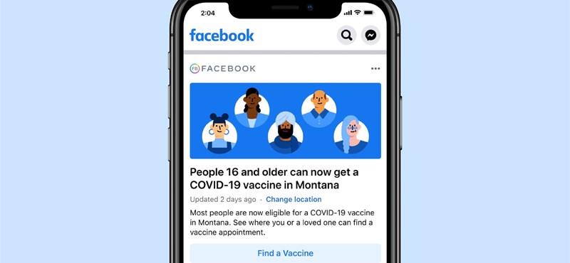 Új panelt tesz a hírfolyam tetejére a Facebook: jön az oltási kisokos