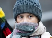 A járvány kezdete óta először tüntetett Greta Thunberg