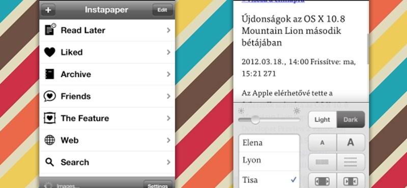 Megjelent az Instapaper 4.1 iOS-re! Csupa hasznos újdonsággal!