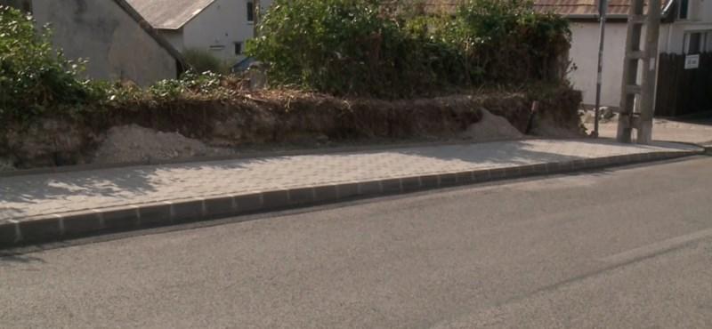 2,7 millió forintért épült 30 méter hosszú járda a XXII. kerületben