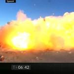 Minden jól ment, aztán hirtelen szanaszét robbant a SpaceX kísérleti Mars-rakétája