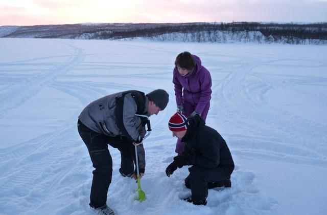 A jéghorgászat kezdete