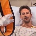 Kis híján elsírta magát a keze láttán a horrorbalesetet szenvedett F1-es versenyző