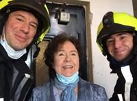 """""""Művésznő! Miénk volt a megtiszteltetés!"""" – tűzoltók mentették ki Lehoczky Zsuzsát"""