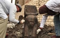 Megtalálták a 3300 éve élt, legendás II. Ramszesz fáraó 105 centis szobrát