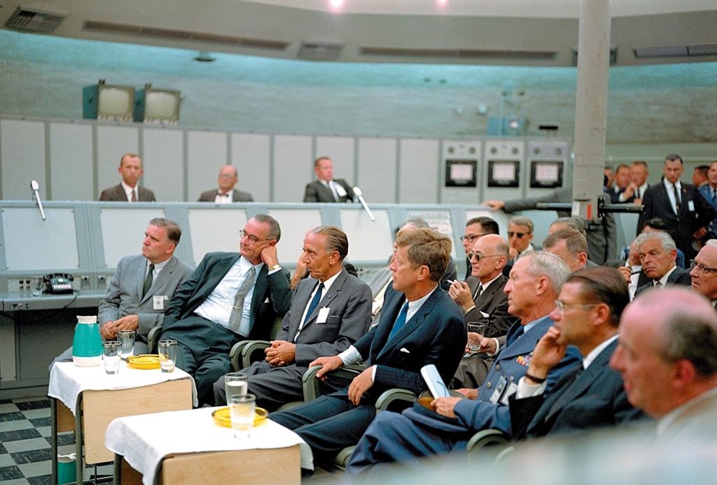 1962.09.12. - Houston, USA: ?? Rocco Petrone - Cape Canaveral rakéta- John F. Kennedy, John Fitzgerald Kennedy