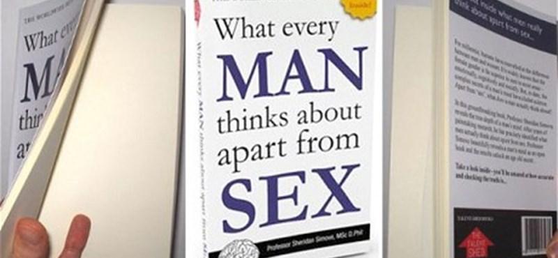 Teljesen üres a férfiak szexen kívüli gondolatairól szóló könyv - videó