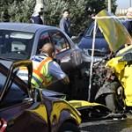 Fotókon a súlyos baleset a Ferihegyi repülőtérre vezető úton