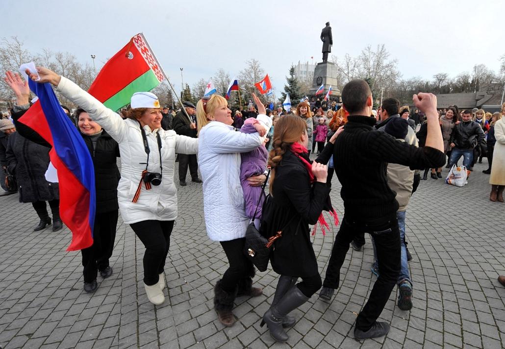 afp.14.03.16. - Krími népszavazás - Szevasztopol, Ukrajna - ukrán válság, Krím