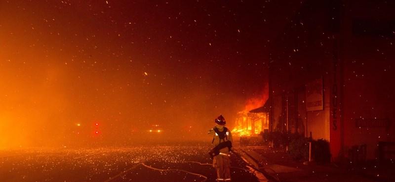 Műholdképen látszik, mekkora pusztítást végzett a kaliforniai erdőtűz