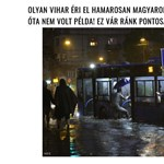 El ne higgye: álhír terjed a Budapestre ma lecsapó viharról