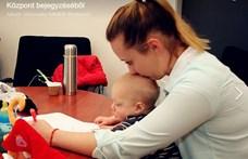 Hét hónapos babájával vizsgázott Szombathelyen az egyetemista (fotó)