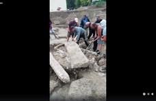 Kiástak egy 1700 éves halottat a Bécsi úton