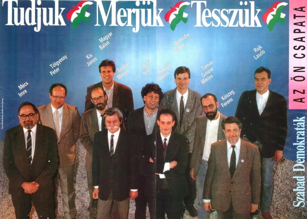 e_! - első szabad választások 1990. - választási plakátok repró