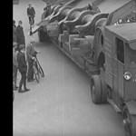 Zseniális retro videó: így szállították az 53 tonnás túlméretes szállítmányt 1932-ben