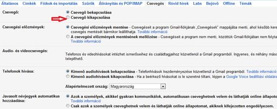 e873400954 A Gmail egyik remek szolgáltatása a chatelési lehetőség, amihez bal oldalon  egy, a partnerek nevét és elérhetőségét is mutató dobozt is kínál a  levelező.
