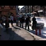 Videó: kigyulladt egy Lada Pécs belvárosában