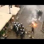 Videó: kiszabadították társukat a horvát huligánok a rohamrendőröktől