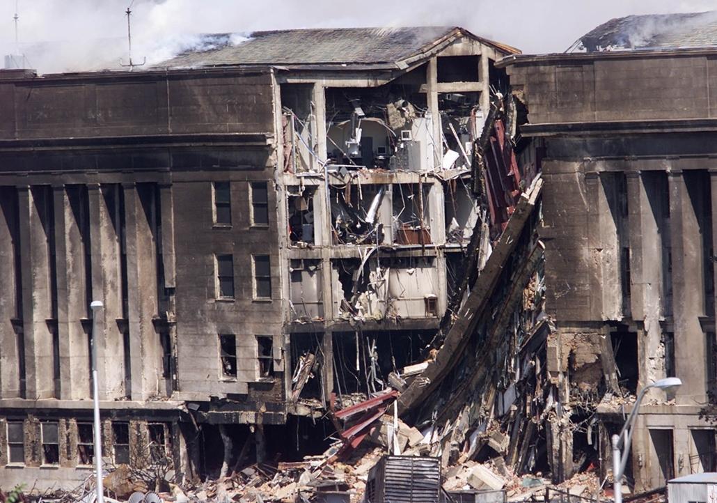 afp.13.09.11. - Washington, USA: a pentagon ellen elkövetett támadás után- wtc, 911 -