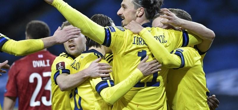 Vb-selejtezők: Botlottak a spanyolok, Ibrahimovic gólpasszal tért vissza