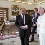 Fotó: Ferenc pápánál járt az Európai Parlament elnöke