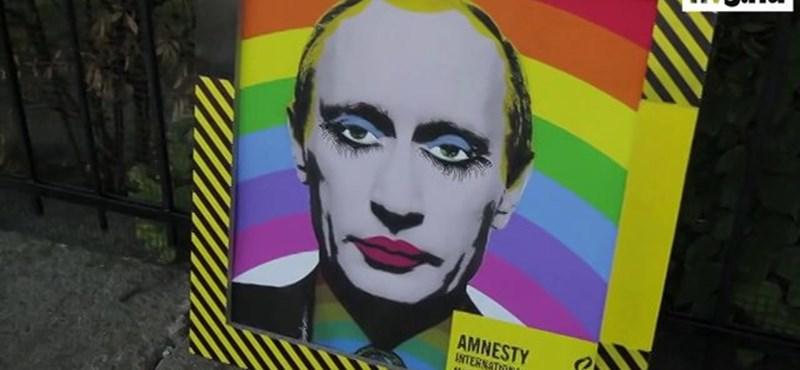 """""""Fuck you Putin"""" – Budapesten is tüntettek az orosz állami homofóbia ellen"""