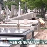 Durva pusztítást végzett a vihar Makó egyik temetőjében