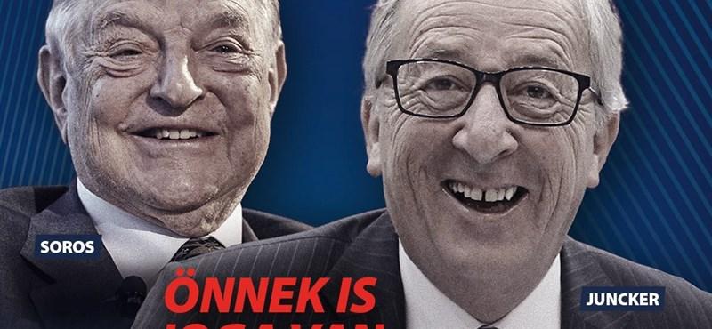 Részletes tájékoztatóban reagált az EB a kormány új, sorosozós plakátkampányára