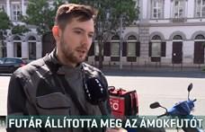 Megszólalt a pizzafutár, aki robogójával állított meg egy ámokfutót a Bajcsy-Zsilinszky úton