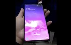 Kiszivárgott egy videó, először látni a végleges Samsung Galaxy S10+-t